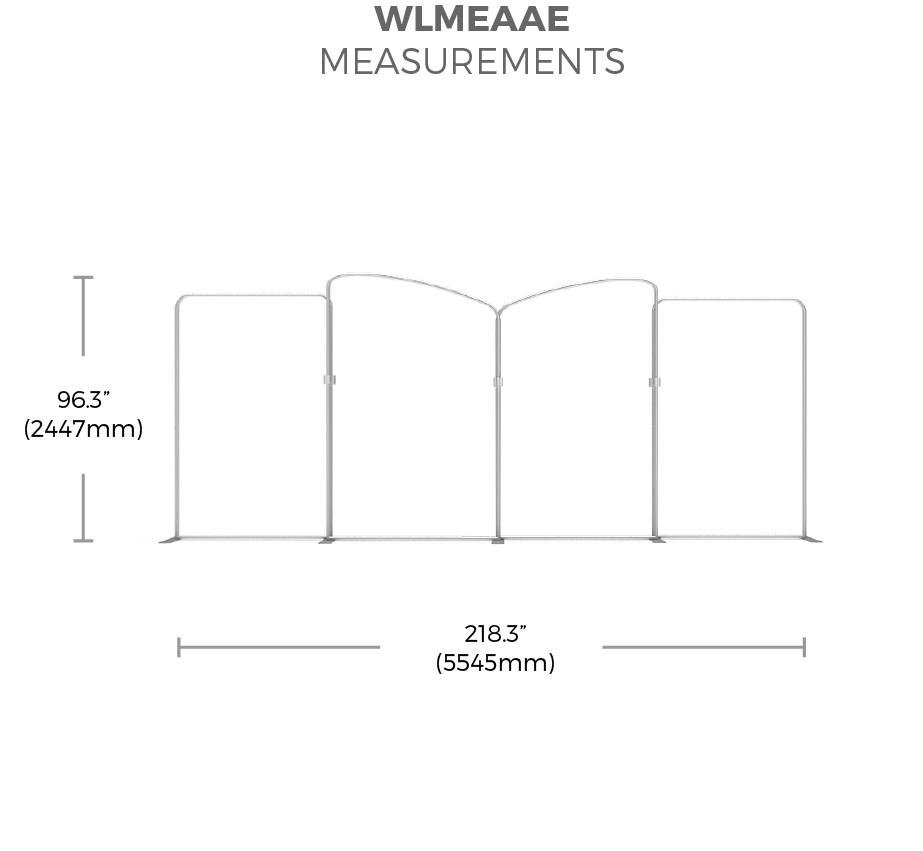 BrandStand WavelineMedia WLMAEEA Tension Fabric Displaymeasurements