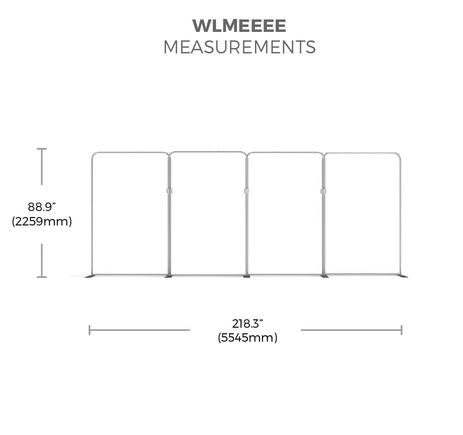 BrandStand WavelineMedia WLMEEEE Tension Fabric Display measurements