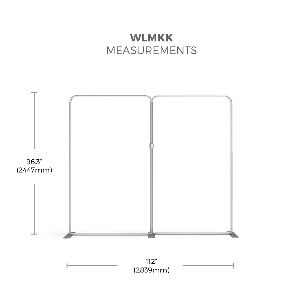 BrandStand WLMKK Waveline Tension Fabric Display Kit framework