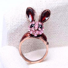 Rose Crystal Bunny Ring - Mandala Jane
