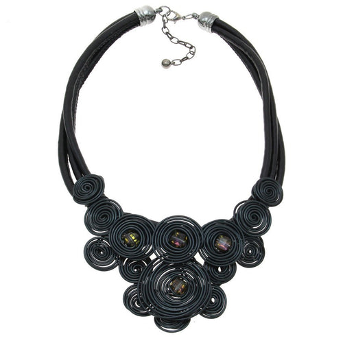 Wire Spirals Collar Necklace - Mandala Jane