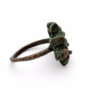 Crescent Moon Patina Ring - Mandala Jane