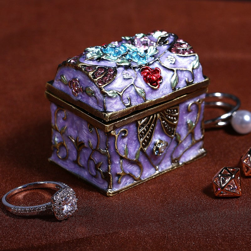 Miniature Ornate Metal Trinket Box - Mandala Jane