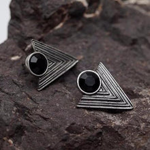 Geometric Carved Stud Earrings - Mandala Jane
