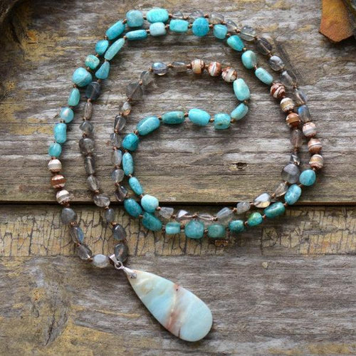 Spirit Stone Beaded Necklace - Mandala Jane