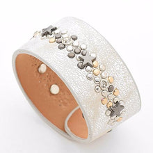 Star Charm Leather Cuff - Mandala Jane