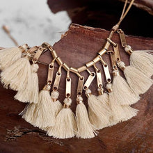 Mohave Sand Tassel Necklace - Mandala Jane
