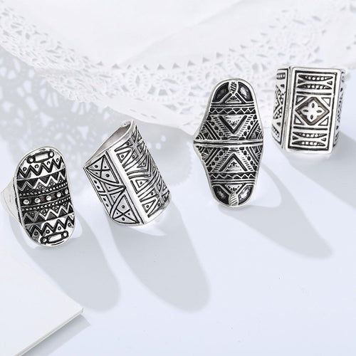 Sacred Etchings Ring Set - Mandala Jane
