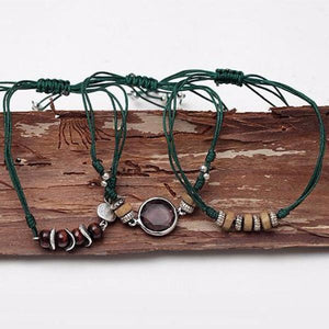 Emerald Forest Bracelet Set - Mandala Jane