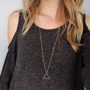 Triangle Pendant Long Necklace - Mandala Jane