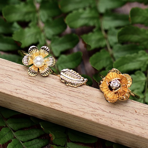 Force Of Nature Ring Set - Mandala Jane