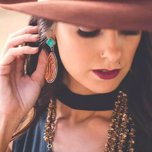 Out West Statement Earrings - Mandala Jane