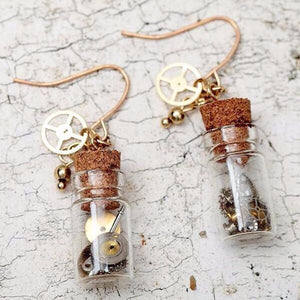 Trinket Bottle Drop Earrings - Mandala Jane
