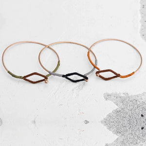 Threaded Geometric Bangle Set - Mandala Jane