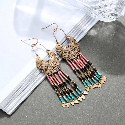 Native Spirit Beaded Earrings - Mandala Jane