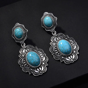 Turquoise Goddess Earrings - Mandala Jane