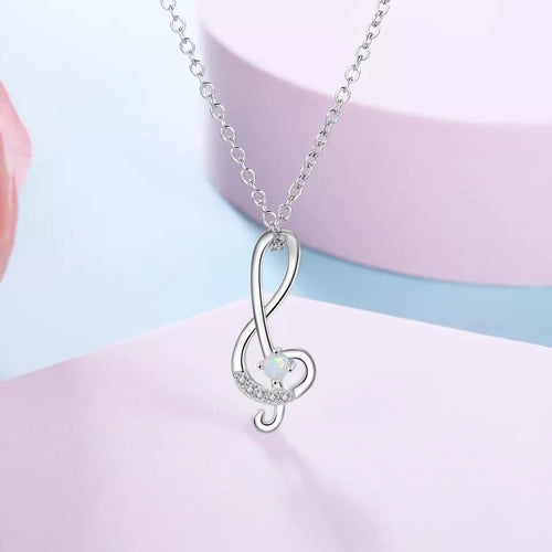 Musical Opal Pendant Necklace