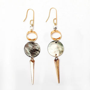 Golden Spear Shell Earrings - Mandala Jane
