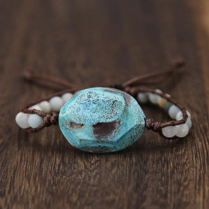 Hope Stone Beaded Bracelet - Mandala Jane