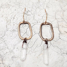 Geometric Crystal Drop Earrings