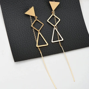 Geometric Dangle Earrings - Mandala Jane