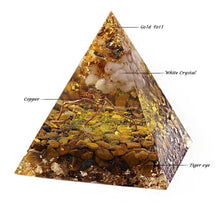 Tiger's Eye Energy Pyramid - Mandala Jane