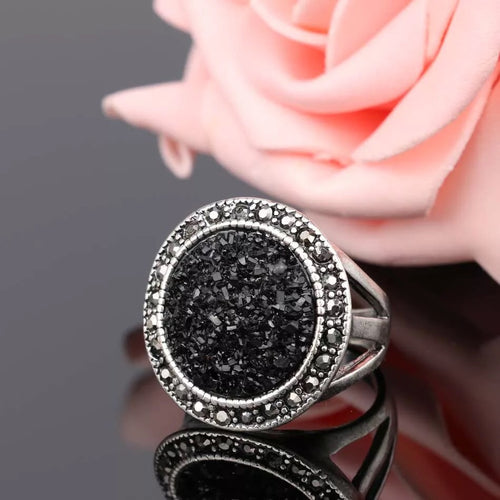 New Moon Druzy Ring - Mandala Jane