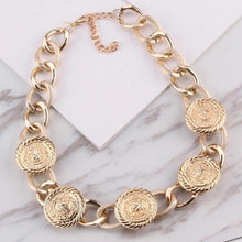 Golden Goddess Chain Collar - Mandala Jane