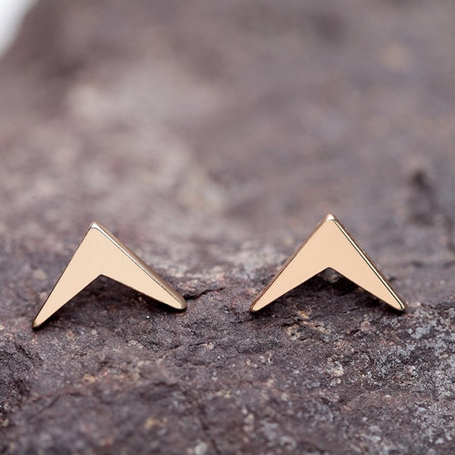 Golden Boomerang Stud Earrings - Mandala Jane
