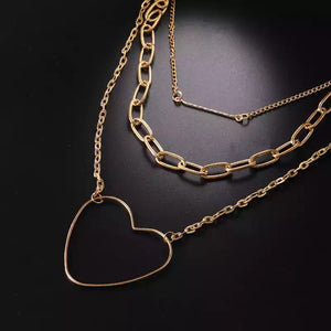 Heart Of Gold Layered Necklace