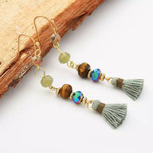 Rustic Beaded Tassel Earrings - Mandala Jane