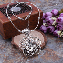 Sacred Flower Hollow Pendant Necklace - Mandala Jane