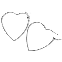 Timeless Heart Hoop Earrings - Mandala Jane