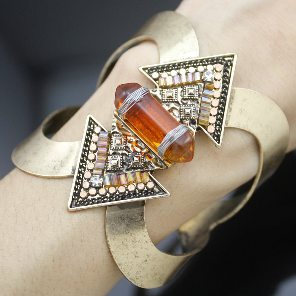 Crystal Empress Statement Cuff - Mandala Jane