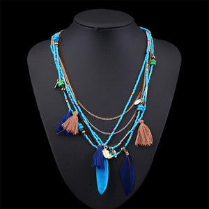 Ascension Feathers Statement Necklace - Mandala Jane
