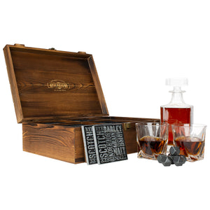 Classic Whiskey Decanter Box Set