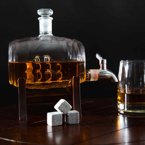 Whiskey Barrel Decanter Set