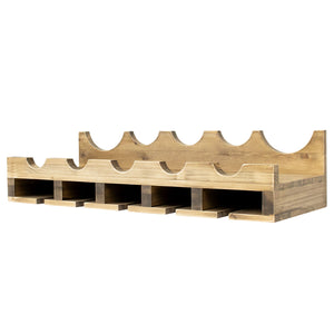 Double Wine Rack Shelf with Wine Bottle Rests: Holds 20 glasses, 5 Bottles and Barware
