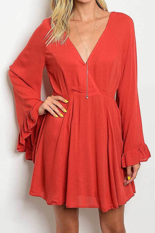 See you Later Bell Sleeve Dress - Cotton Charm Boutique