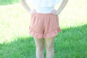 Sweet Summertime Shorts-Dusty Pink - Cotton Charm Boutique