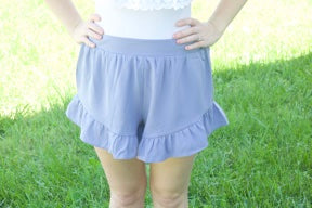 Sweet Summertime Shorts- Perwinkle - Cotton Charm Boutique