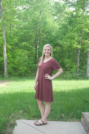 Making Plans Dress- Burgundy - Cotton Charm Boutique