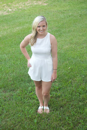 Time of Our Lives Romper- Ivory - Cotton Charm Boutique
