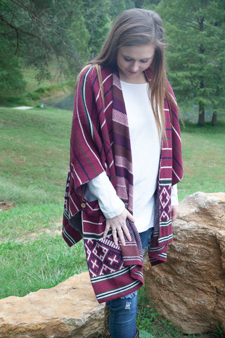 Winter Wonderland Poncho - Cotton Charm Boutique