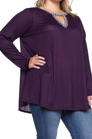 Feels Like We Were Meant To Be Plus Size Top - Cotton Charm Boutique