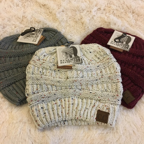 CC Ponytail Beanies - Cotton Charm Boutique
