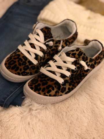 Leopard Print Sneakers - Cotton Charm Boutique