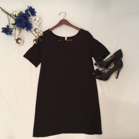 Sleek Simplicity Scalloped Dress - Cotton Charm Boutique