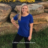 The Simplest Joys Scalloped Top - Cotton Charm Boutique