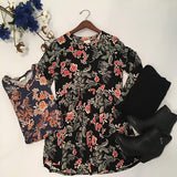 Falling For Florals Babydoll Top - Cotton Charm Boutique
